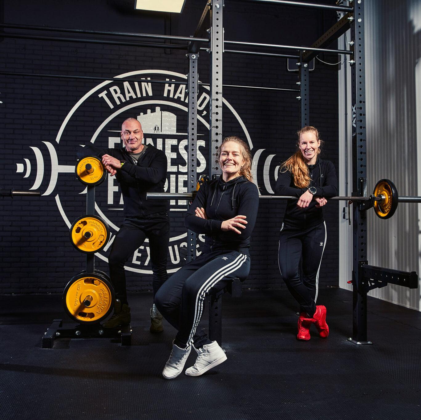 De trainers van de Fitness Fabriek